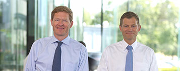 CEO Niels B Christiansen and COO Kim Fausing